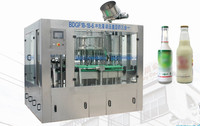 Automatic Glass Bottle Juice / Soymilk Proudution Line /Filling Machine Crown Cap 330ML 6000-8000BPH