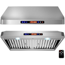 Kitchen Range Hood with stainless steel filter and 2 motors