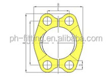 FL Series 3000 PSI SAE Split Flange Clamps for Hydraulic Hose Flange Fittings Code 61