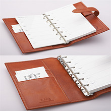 2015 a5 Leather Ring Binder Diary, Appointment Book And Agenda Notebook