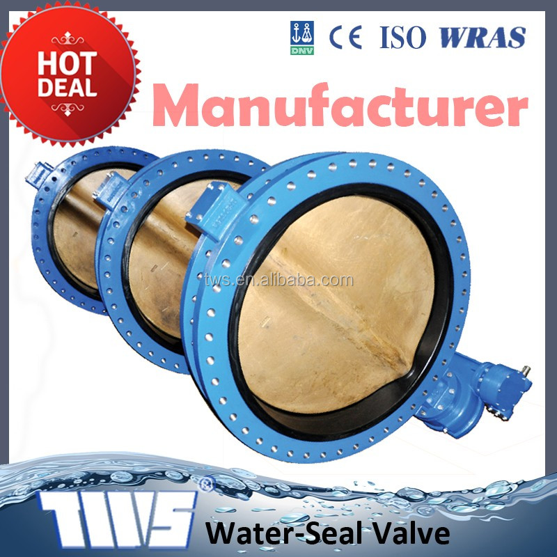DN600 PN 10/16 /150LB /150PSI/200PSI Ductile Iron Wafer Butterfly Valve With Worm Gear Operation