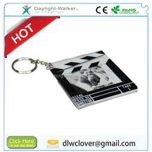 Promotional 2x2 plastic photo frame keychain with picture