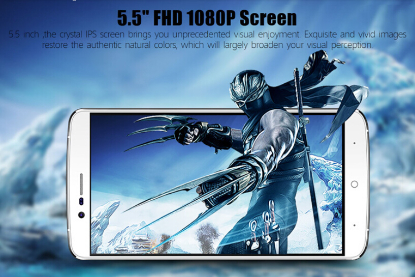 2015 New Product MTK6753 64bit octa core Android 5.1 Phone 3GB+16GB Dual sim 13MP 1920 x 1080p GPS 4G Elephone P8000 Cell Phone