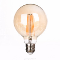 Decoration Indoor Lighting E27 G125 2700K Led Filament Bulb with Double Filament
