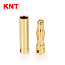 female male 4.0mm Gold plated Bullet bananas Connector Battery ESC Plug