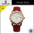 China female wrist watch, leather band female wrist watch