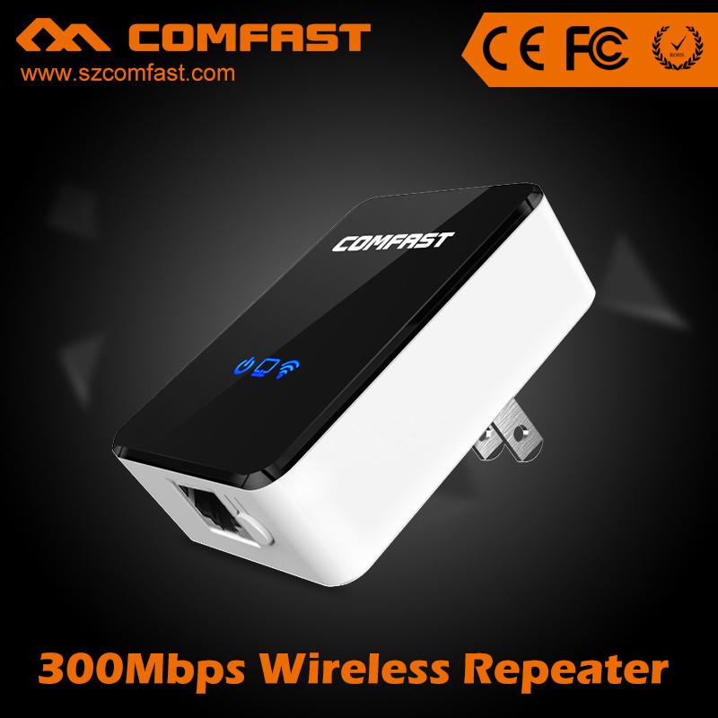Hot Selling COMFAST CF-WR300N 300Mbps Mini Portable Wireless Repeater USB Extender WIFI