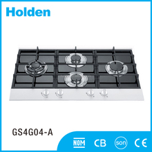 Hot sale tempered glass top four burner gas stove GS4G04-A