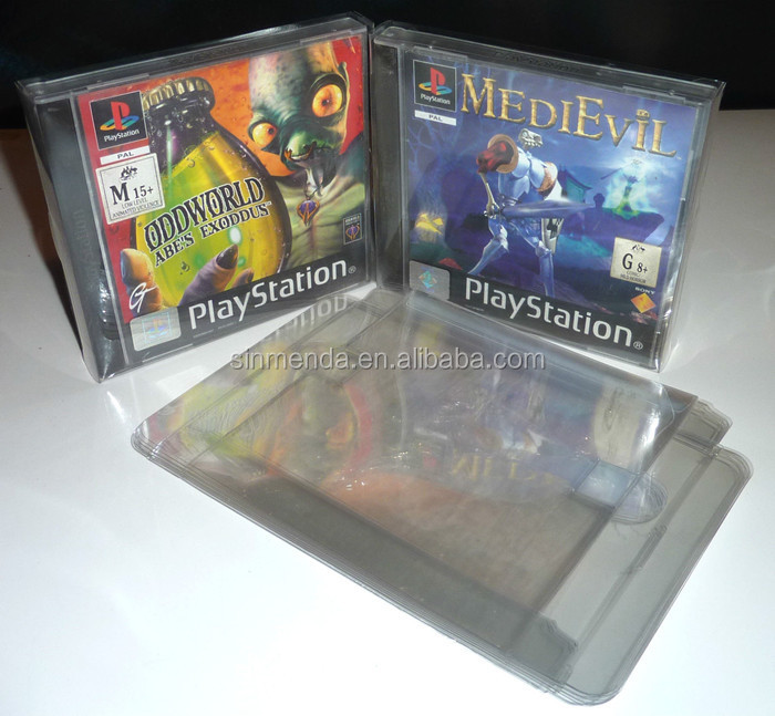 PET material game box protector clear plastic box for NES, SNES,N64 games packaging