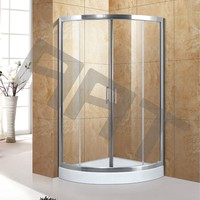 Tempered glass with tray spa shower bath cabin