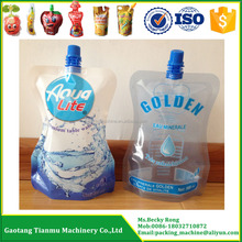 lemon flavour water packing machine for stand up pouch with spout filling and capping