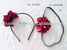 2012 lastest hot red flower hair band