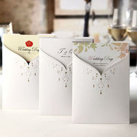 Wedding card manufacture in China & Korea invitation card & fabric butterfly shape japanese wedding invitation greeting card