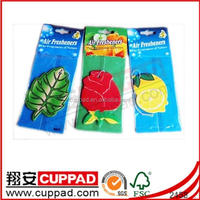 Natural Free Sample New Car Flavour Fragrance Make Hanging Paper Car Air Freshener