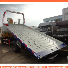 dongfeng sliding platform dongfeng 5 tons flatbed road wrecker towing trucks dimensions