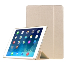 HAWEEL 3-folding Smart Case Clear Back Cover with Holder for iPad mini 3 / 2 / 1(Gold)