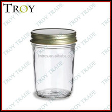regular mouth 8oz plain glass mason jar for jam