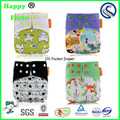 2017 New Arrivals!Happy Flute baby cloth diaper reusable washable one size pocket diaper fast dry baby cloth nappy