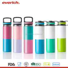 Hot sale Insulated water bottle sport with Carabiner Lid
