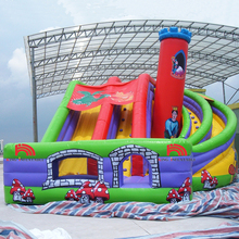 New Design Mushroom Printing Titanic Inflatable Dry Slide From Guangzhou Factory