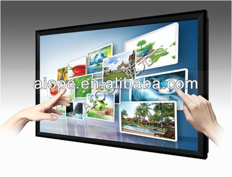 65inch Interactive multi touch screen monitor display +VGA+WIFI