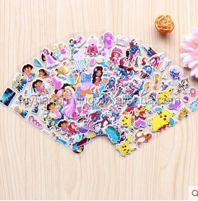 Hot sale minions despicable me 3D cartoon custom puffy sticker for children
