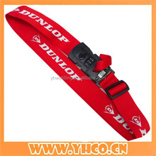 durable customized polyester adjustable luggage strap with digital weighing scale lock