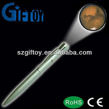 led projector customized logo pen led light pen projector for promotional