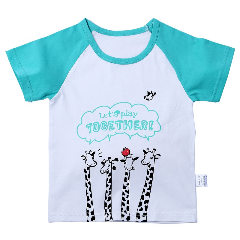 Newest Baby Wear Short Sleeve Top Children O Neck T shirt