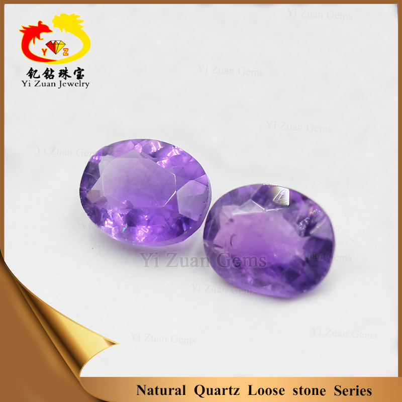 New oval shape facet cut natural amethyst gems stone for jewelry making