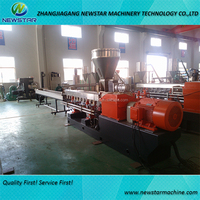 PE + Caco3 filler masterbatch co-roating twin screw extruder machine for plastic granules