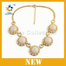 crystal fashion statement necklace, 18k italian gold jewelry, simple gold chain necklace