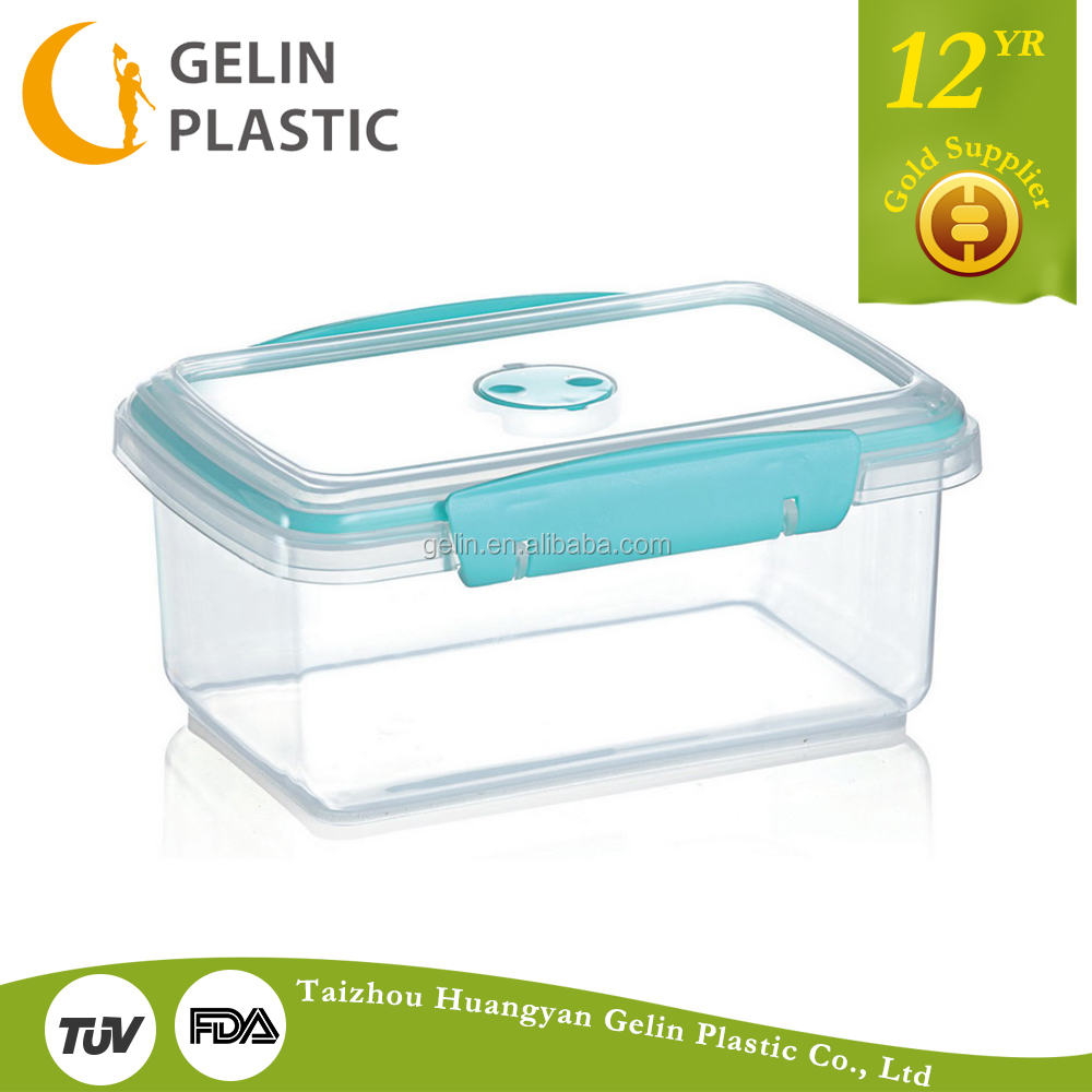 plastic box food container with lid plastic clip lock
