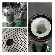 Qic-lock Flange Duplex liquid bag filter housing for water filtration and liquid purification