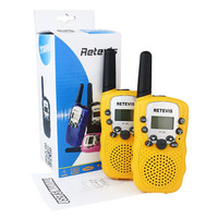 2PCS New Yellow Retevis RT-388 UHF 8CH LCD Display Flashlight Walkie Talkie for children