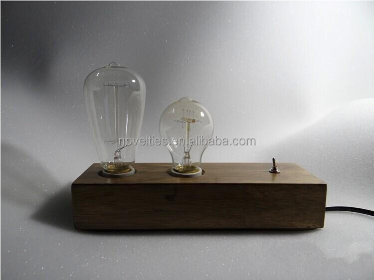 Explosion models Hot selling Dook Studio Vintage Retro Wood Small Table Lamp Reminisced Solid Wood Handmade
