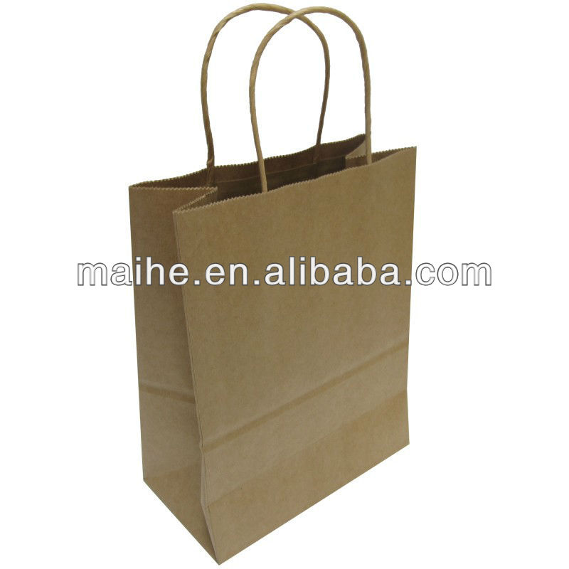 mini brown paper bags/brown paper bags with handles wholesale/wholesale brown paper bags