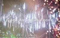 white falling led tubes Christmas tree lights street decoration light