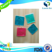 Square shape soft hot cold gel pack for food transportion