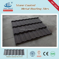 building material /Strong sand coated metal roofing tiles/ Flat roof tile in guinea-bissau