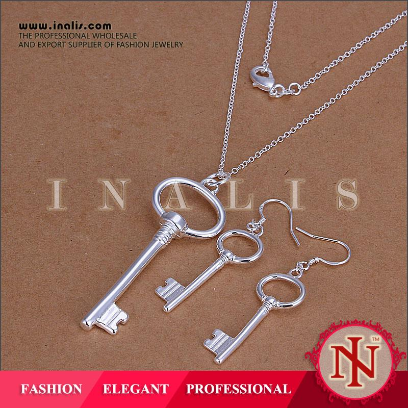 Wholesale silver plated key bisuteria S191
