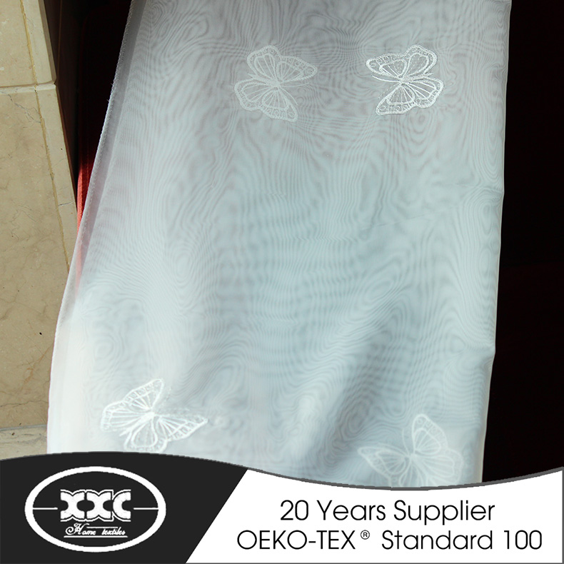 High quality beautiful embroidery on voile fabrics