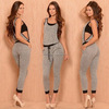 Bodycon Sexy Women Casual Sweat Sport Suit Jumpsuit