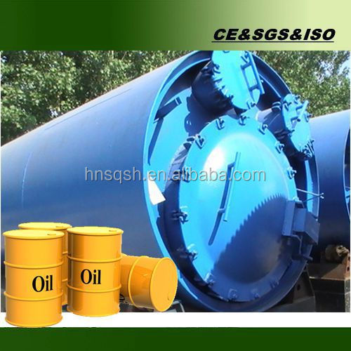 Negative pressure oil extracting machine by using waste plastics