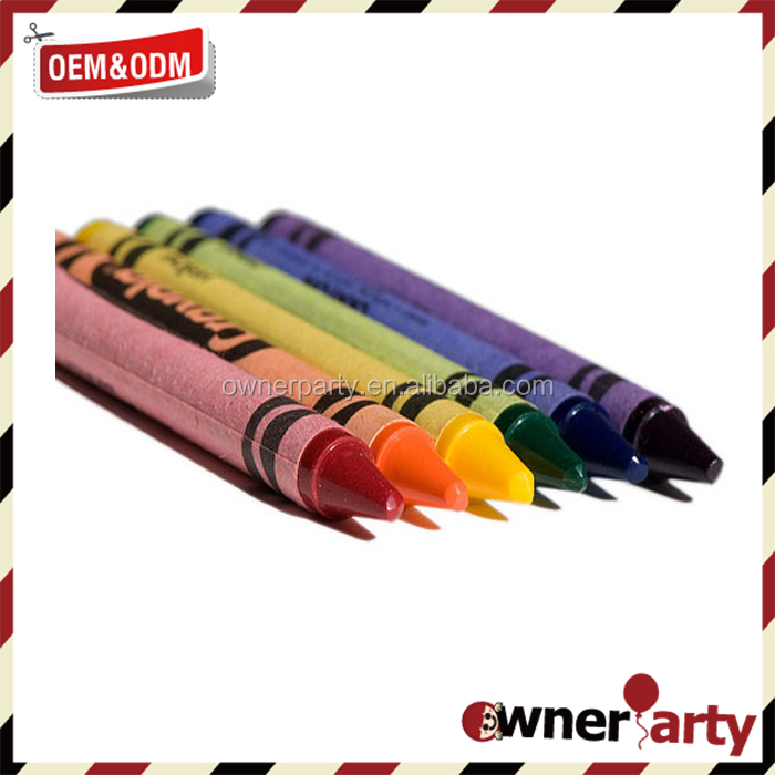 Customize promotional gift crayons in bulk drawing wax crayon pens
