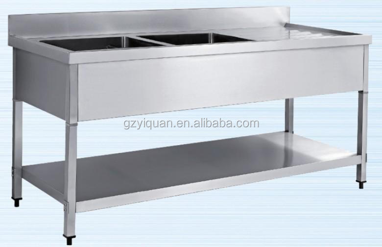 Restaurant stainless steel dish washing work table for High quality kitchen sinks