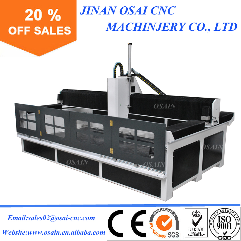 Heavy Duty CNC Stone Cutting Engraving Machine / 3015 Stone Carving CNC Router For Marble Granite
