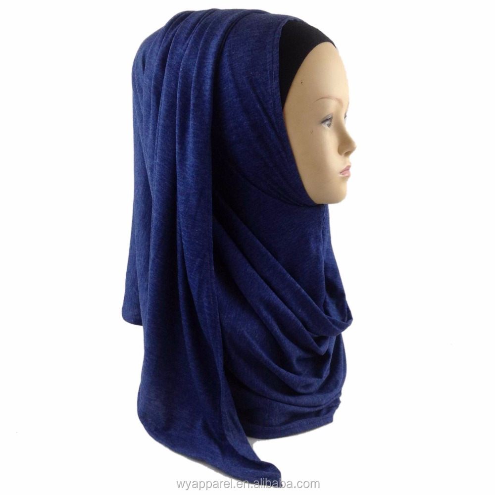 US $0.99-3.79 Wholesale Big size Solid Color Elastic Cotton instant shawl viscose hijab