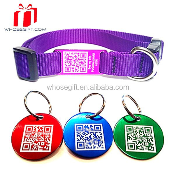 Custom Shape Laser Engraved Different Qr Code Pet Tag