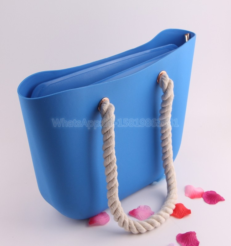 Large Capacity Candy Color Silicone Jelly Bag Tote Bag